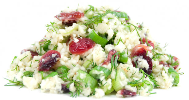 Raw Cranberry Dill Rice