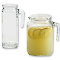 Glass Pitchers with Lids