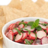 Radish Mint Salsa by Chef Joy Houston