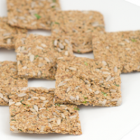 Garlic Rosemary Flax Crackers