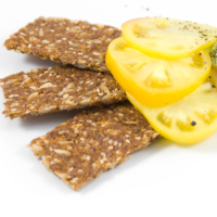 Free recipe for gluten free raw flax crackers from Chef Joy Houston