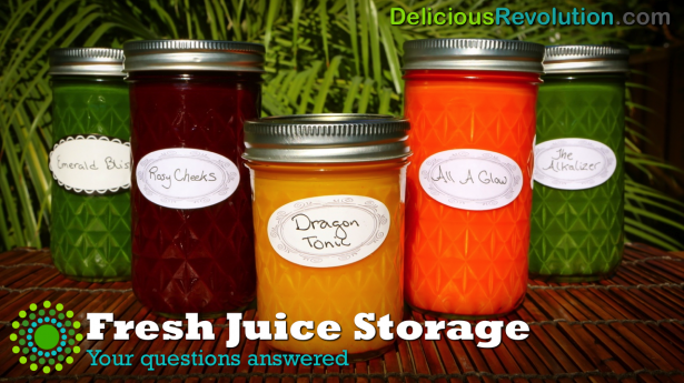 How long to store fresh juices